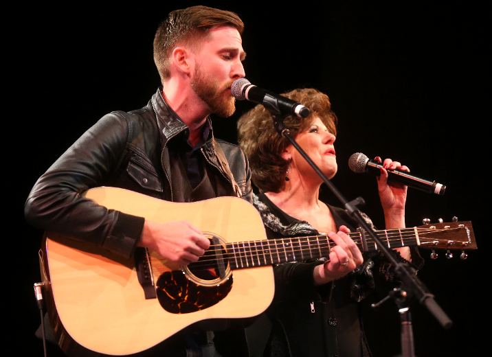 John Abrams and Marie Bottrell perform in the CCMA Legends Show at Centennial Hall on Friday night. (MIKE HENSEN, The London Free Press)
