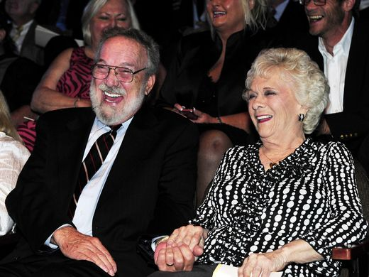 Jean Shepard laughs with her husband, Benny Birchfield, during the Hall of Fame medallion ceremony, where Shepard, Reba McEntire and Bobby Braddock were formally inducted into the Country Music Hall of Fame on May 22, 2011.Photo by Larry McCormack/The Tennessean