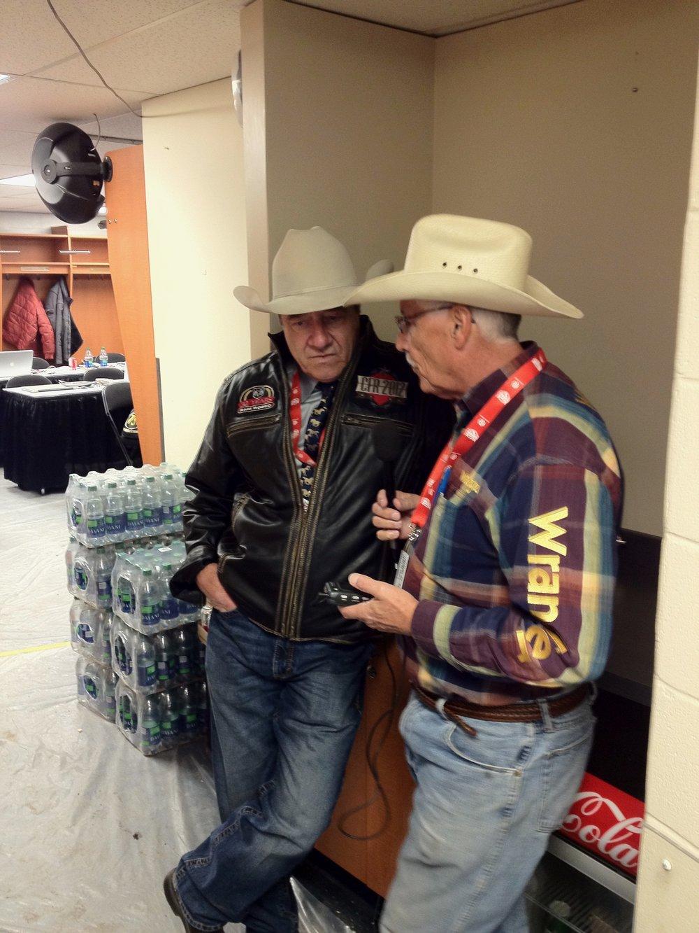 Arnie Jackson talks to Wayne Vold