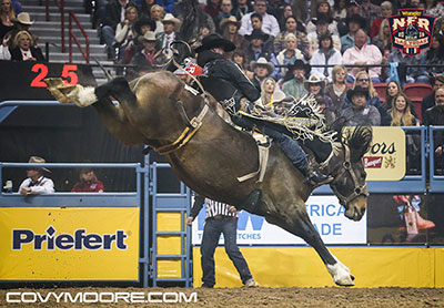 Jake Vold - 83.5 on Big Stone Rodeo's Spilled Perfume - Covy Moore photo