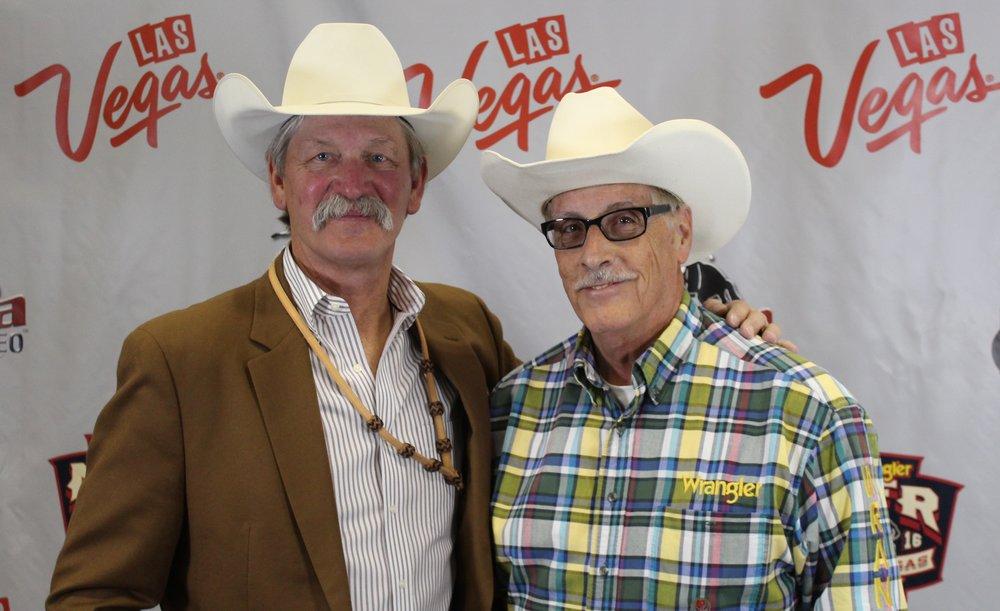 PRCA Commissioner Karl Stressman & Arnie Jackson. Photo by Arnie Jackson
