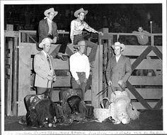 COW PALACE RODEO CHAMPIONS - Jim Shoulders, Casey Tibbs, Homer Pettigrew, Gene Rambo