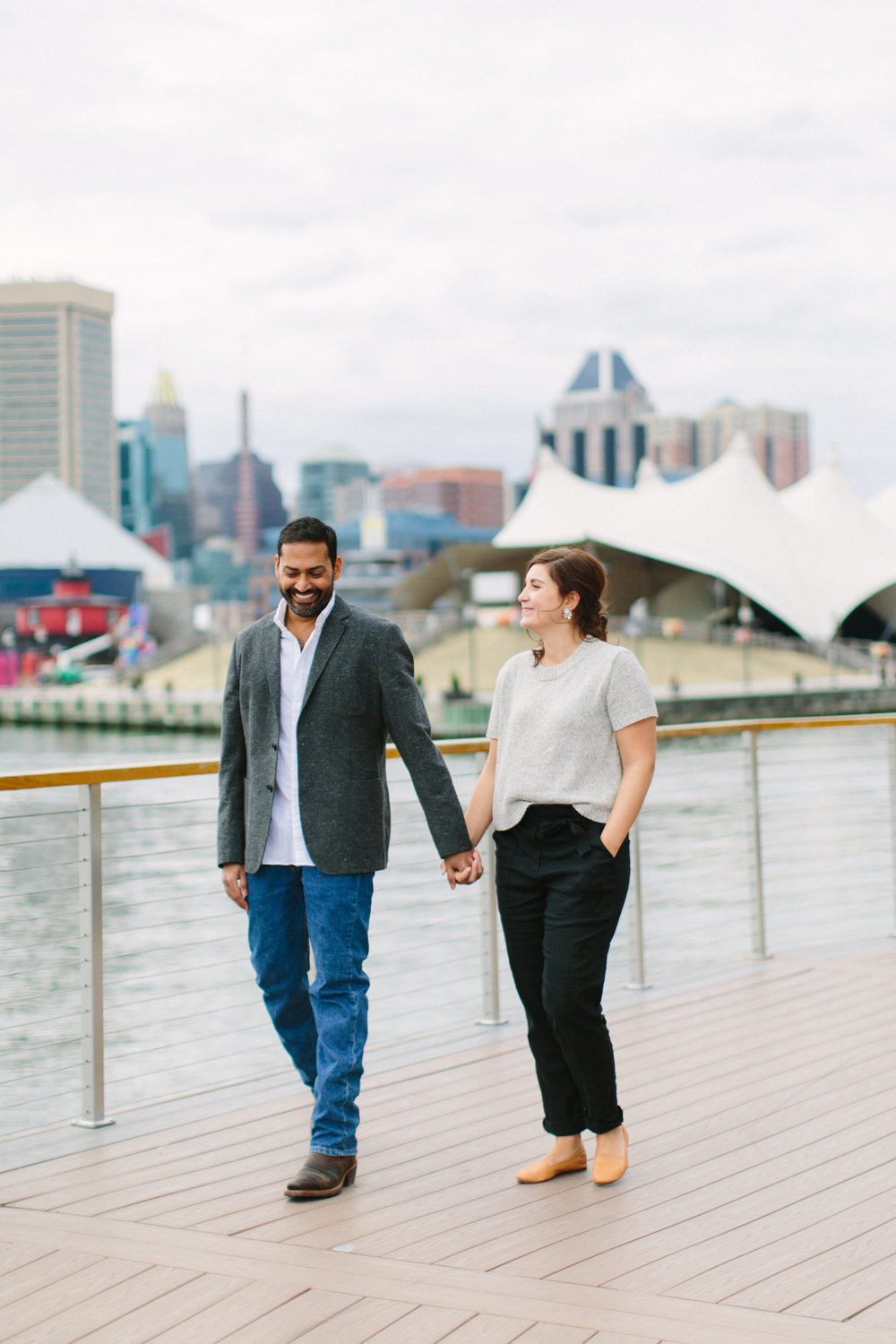 Baltimore Inner Harbor waterfront engagement photography session with Nicki Metcalf Photography-0015.jpg
