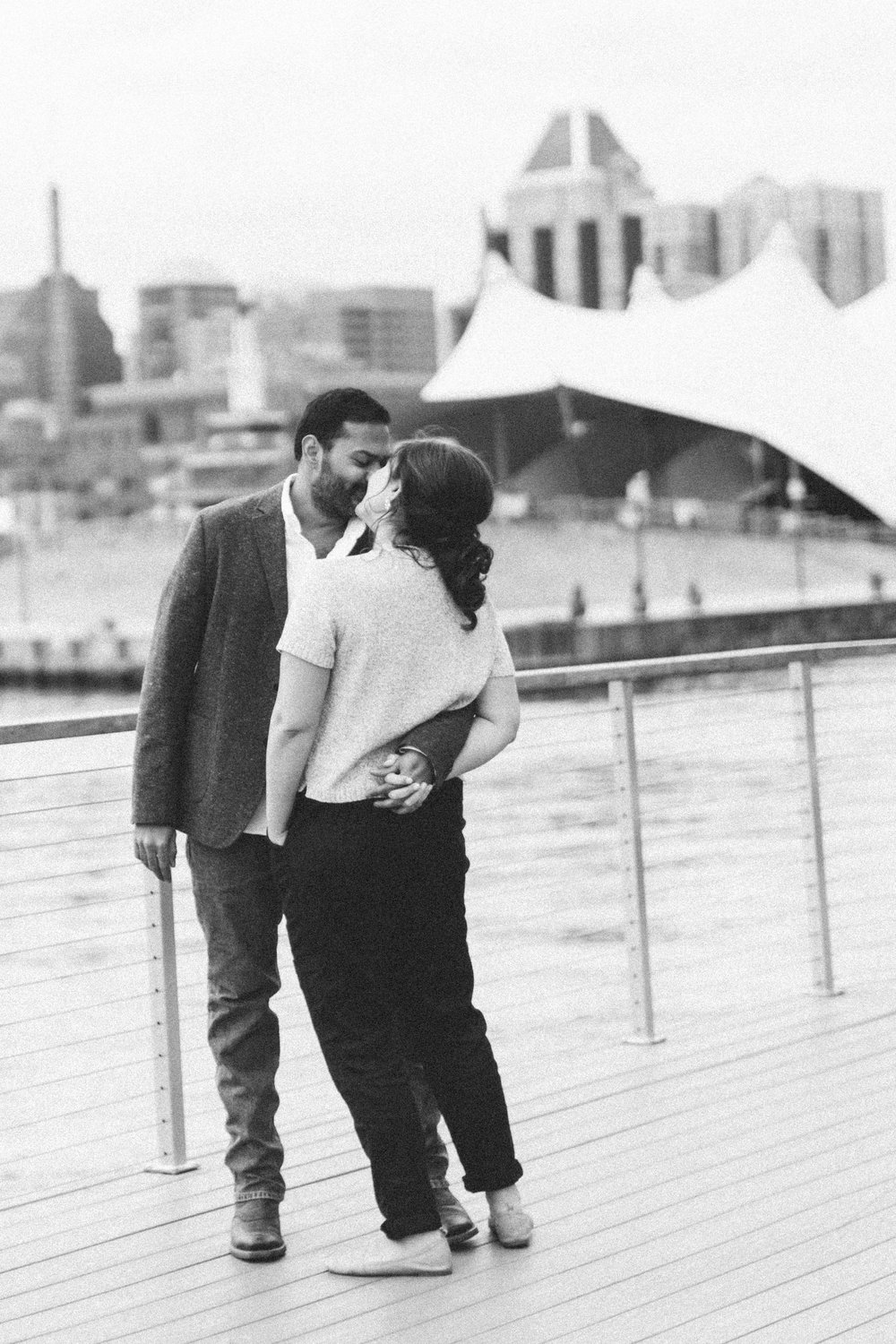 Baltimore Inner Harbor waterfront engagement photography session with Nicki Metcalf Photography-0014.jpg