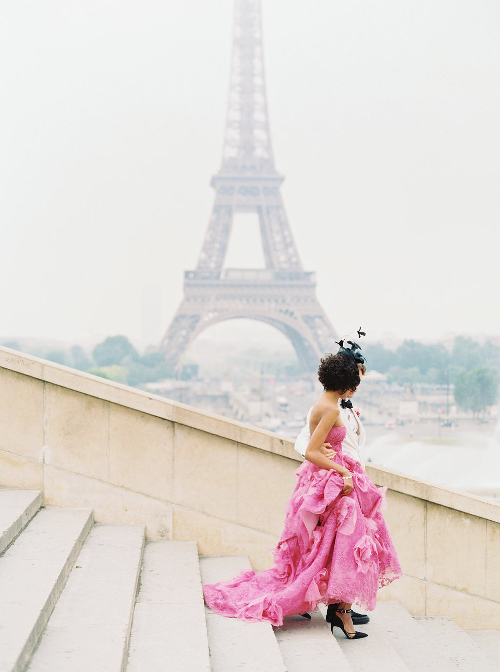 Trocadero Paris Elopement with pink Marchesa gown by East Made Event Company and Sophie Kaye Photography(4of121).jpg