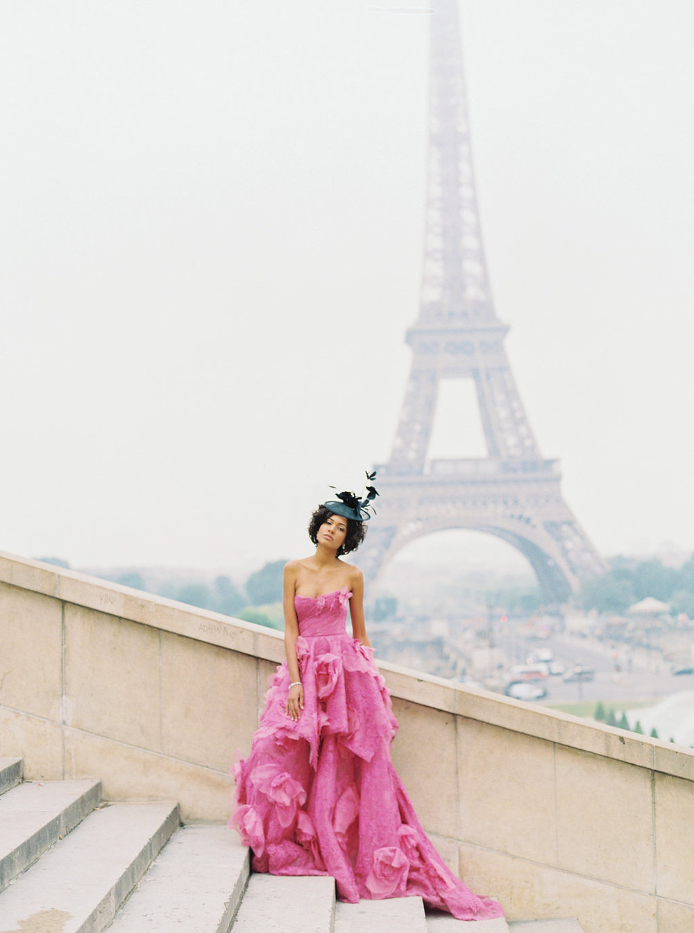 Trocadero Paris Elopement with pink Marchesa gown by East Made Event Company and Sophie Kaye Photography(8of121).jpg