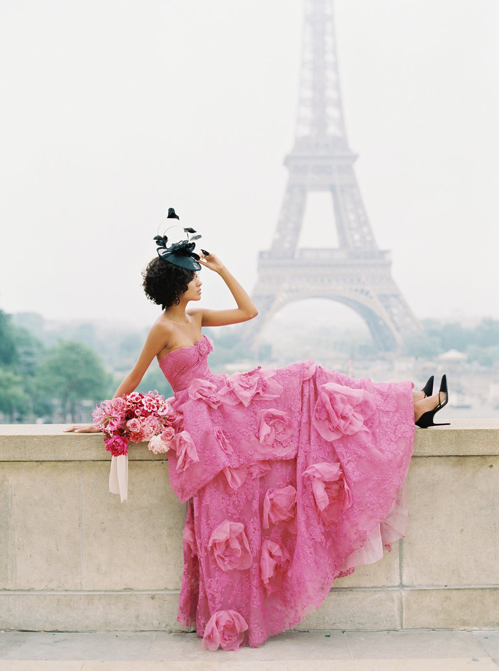 Trocadero Paris Elopement with pink Marchesa gown by East Made Event Company and Sophie Kaye Photography(27of121).jpg