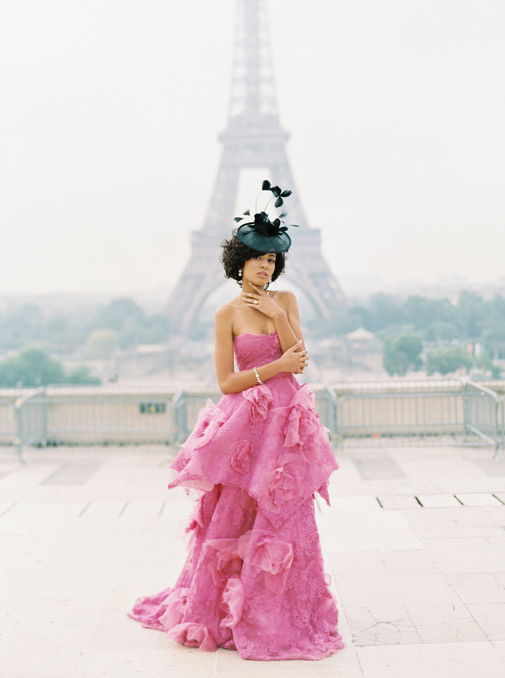 Trocadero Paris Elopement with pink Marchesa gown by East Made Event Company and Sophie Kaye Photography(82of121).jpg