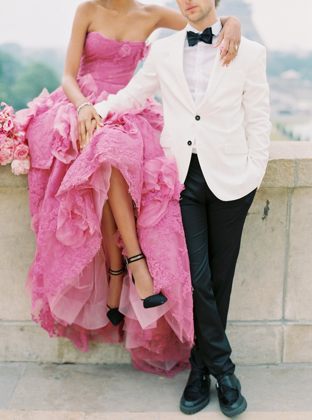Trocadero Paris Elopement with pink Marchesa gown by East Made Event Company and Sophie Kaye Photography(116of121).jpg