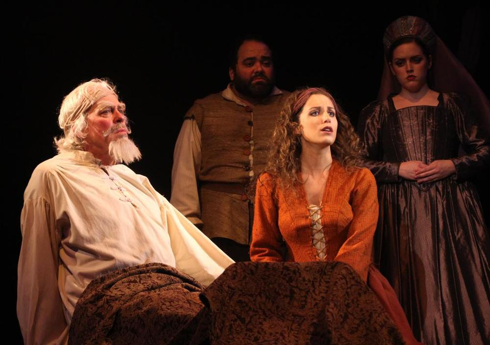 Terrence Mann and Alix Paige in  Man of La Mancha  at Connecticut Repertory Theatre. Directed and Produced by Vincent J. Cardinal.