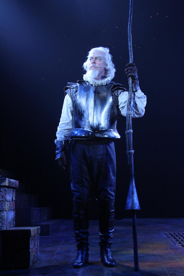 Terrence Mann and Richard Ruiz in  Man of La Mancha  at Connecticut Repertory Theatre. Directed and Produced by Vincent J. Cardinal.