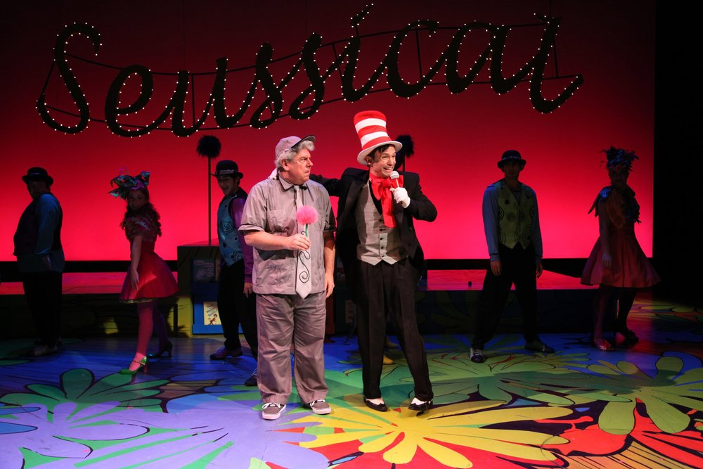 Steve Hayes and Bradford Scobie in  Suessical The Musical