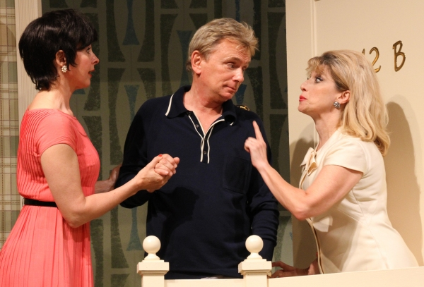 Pat Sajak, Kathleen McNeeny, and Liz Larsen in  The Odd Couple  at Connecticut Repertory Theatre. Directed and Produced by Vincent J. Cardinal.