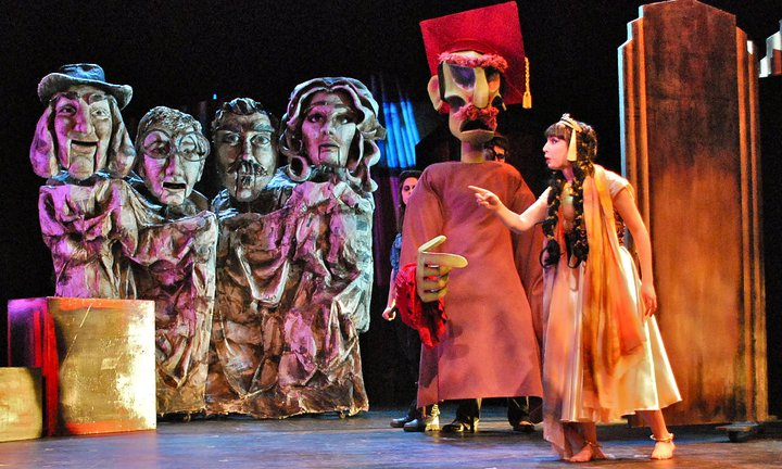 Premiere of Joseph Therian's puppetry adaptation of  A Dream Play