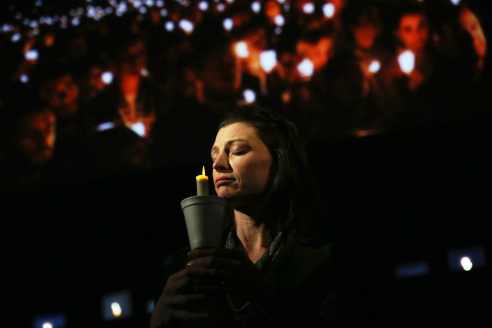 Brandy Burre in  The Laramie Project  produced and directed by Vincent J. Cardinal.