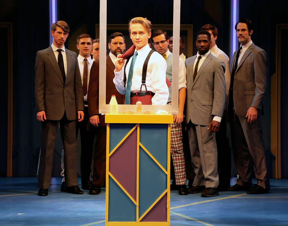 Riley Costello in  How To Succeed...  at Connecticut Repertory Theatre