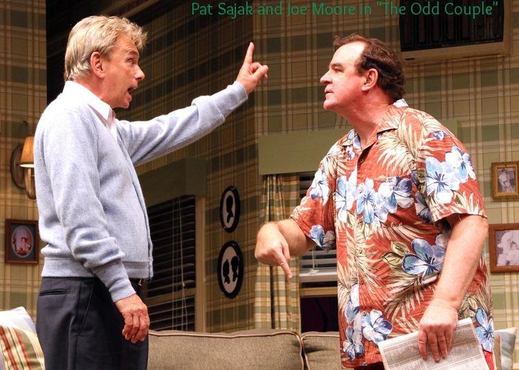 Pat Sajak and Joe Moore in  The Odd Couple  at Connecticut Repertory Theatre. Directed and Produced by Vincent J. Cardinal.