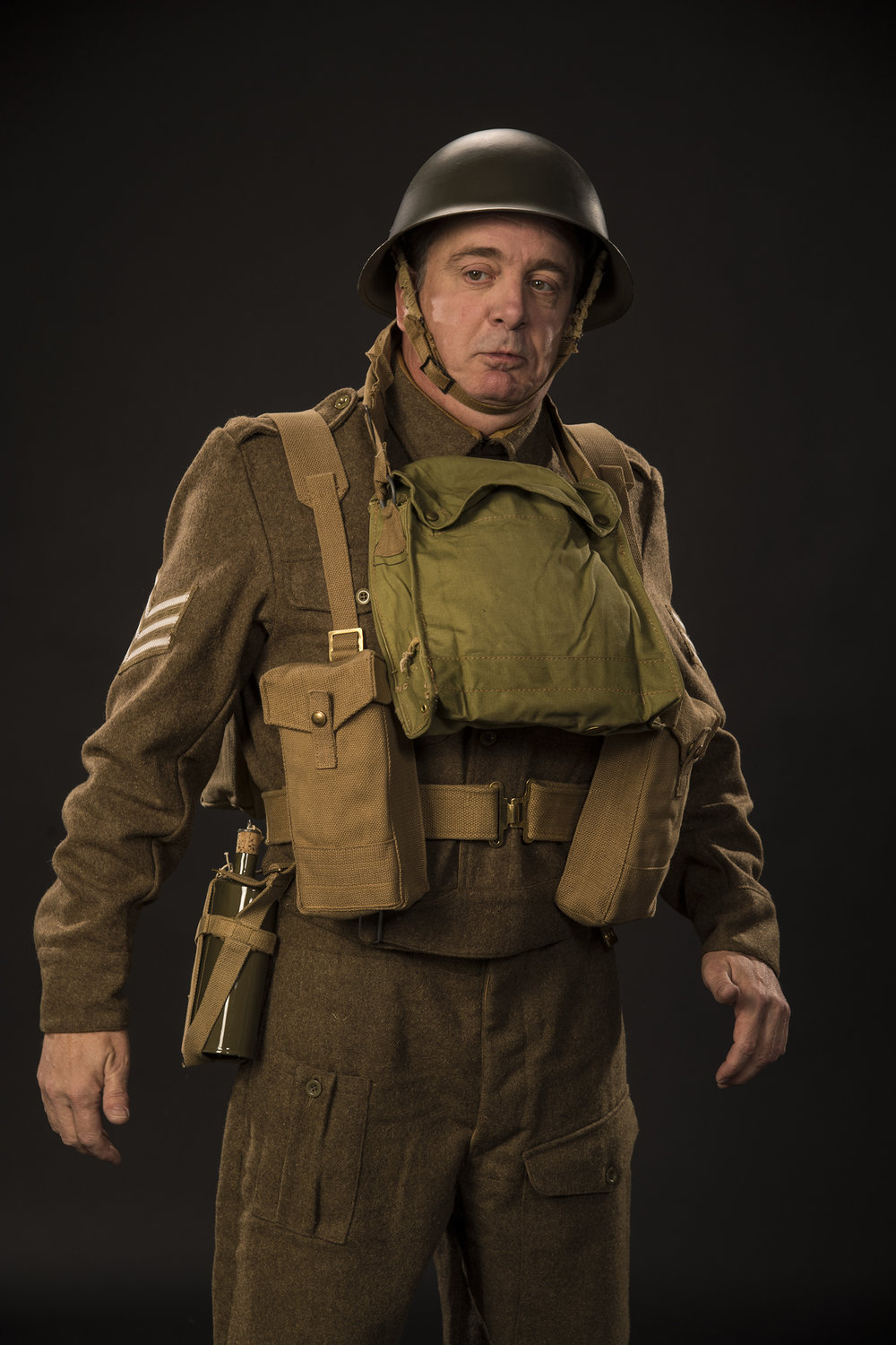 "Chris Mixon as S/Sgt. ""Froggy"" LeSueur in the Utah Shakespeare Festival's 2018 production of  The Foreigner.  (Photo by Karl Hugh. Copyright Utah Shakespeare Festival 2018.)"