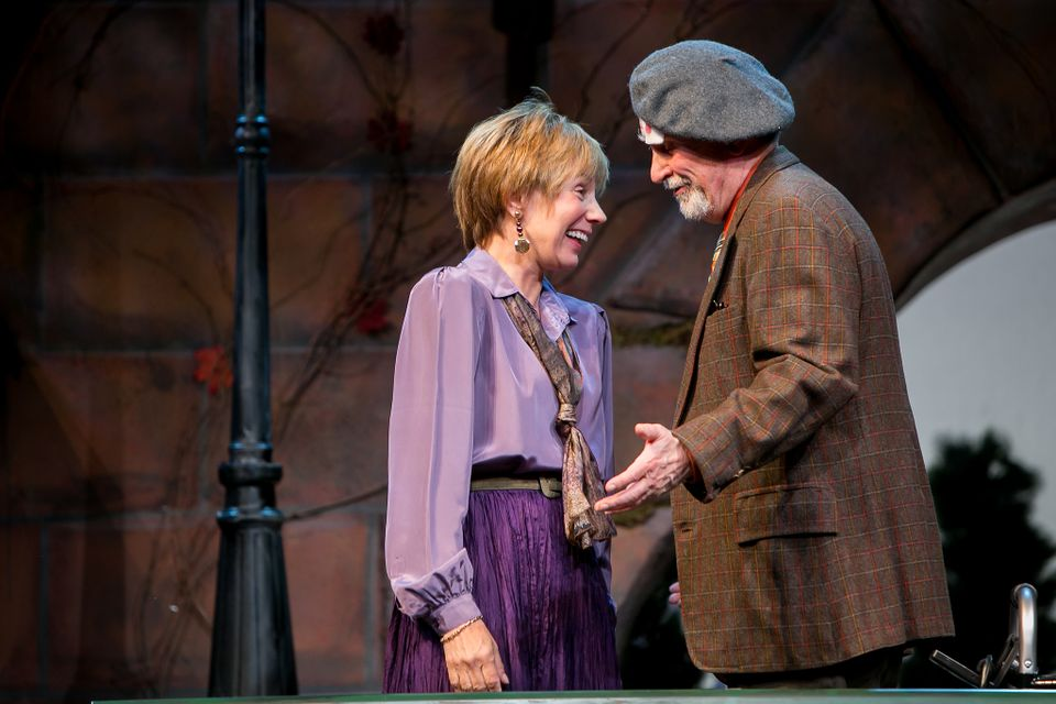 "Laura Austin as Clara (left) and Fred Grandy as Nat Mower in ""I'm Not  Rappaport"" at Redhouse Arts Center in Syracuse.   Photo courtesy of  Genevieve Fridley."