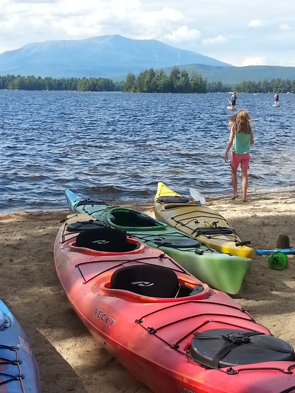 We ate lunch just up from this view! Lake Millinocket with Mt. Katahdin in the background.  Breathtaking!