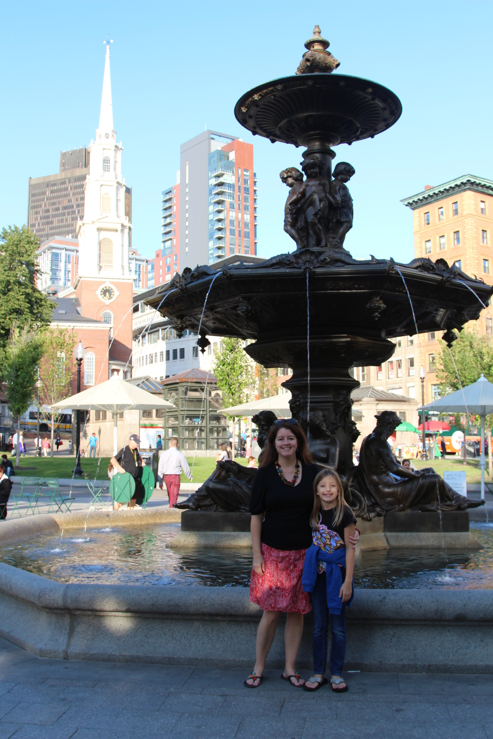 At the fountain in Boston Common.