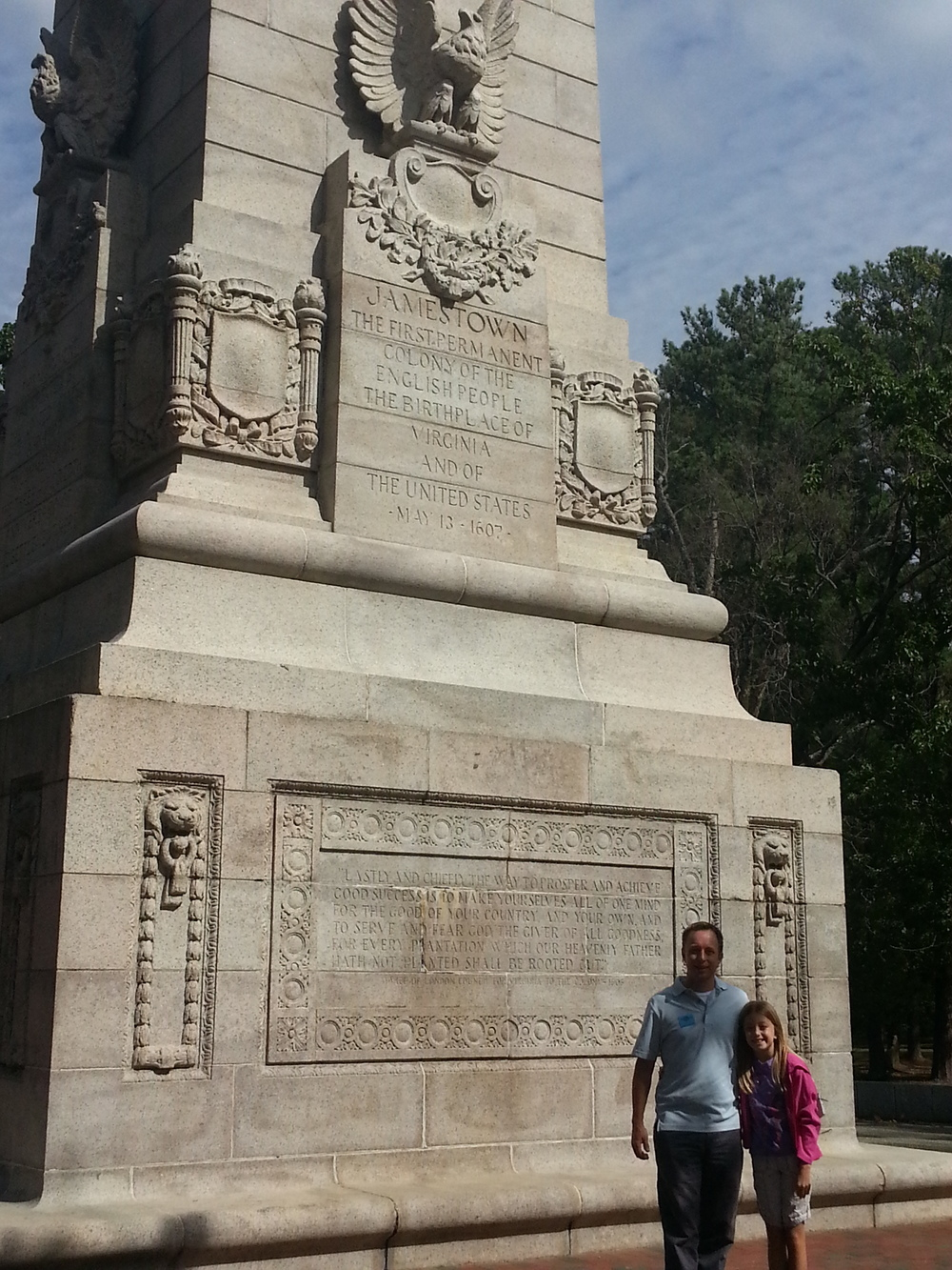 This monument was placed in 1907, on the 300th anniversary of the landing.