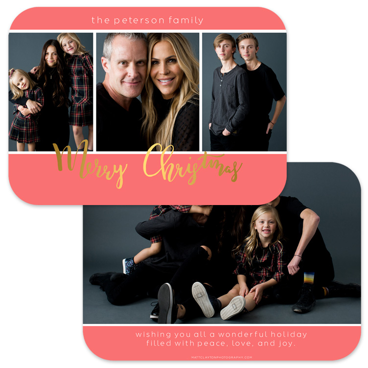 MERRY MOMENTS - HOLIDAY PINK with gold foil