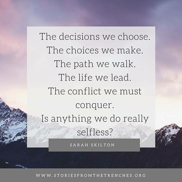 Sarah continues our Conflict series and shares about one the greatest parenting decision she will ever have to make, one no one would chose to face. Click on our bio to read now. #stories #storiestrenches #conflict #parenting #mother