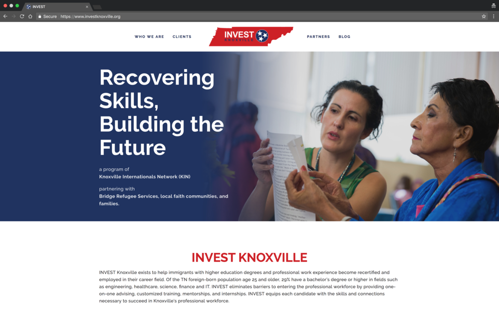 INVEST Knoxville Website