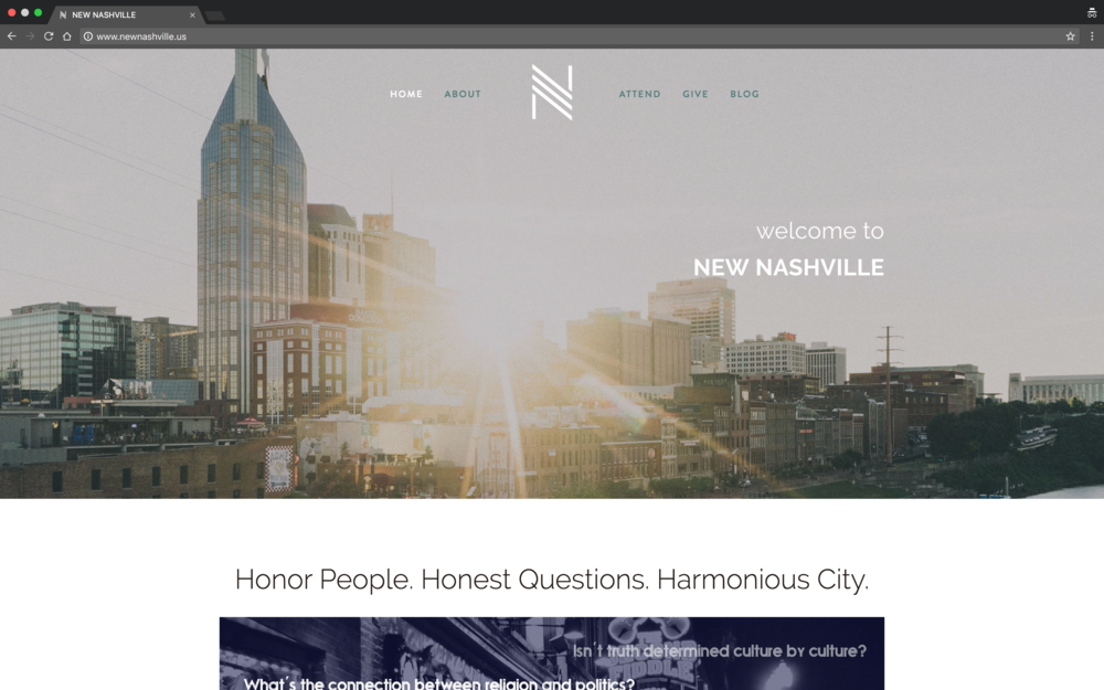 New Nashville Website