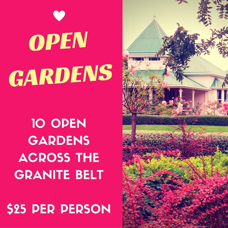 Open Gardens - 10 Gardens across the Granite Belt, $25 per person