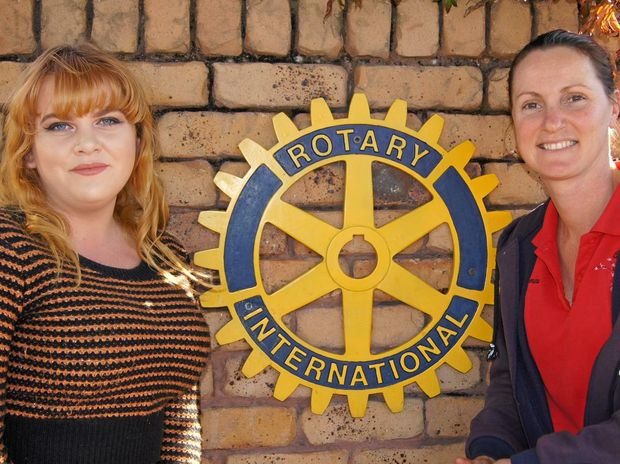Bridget Anne Campbell and Stanthorpe Rotary Club president Morwenna Harslett. Photo by Kim Micke.