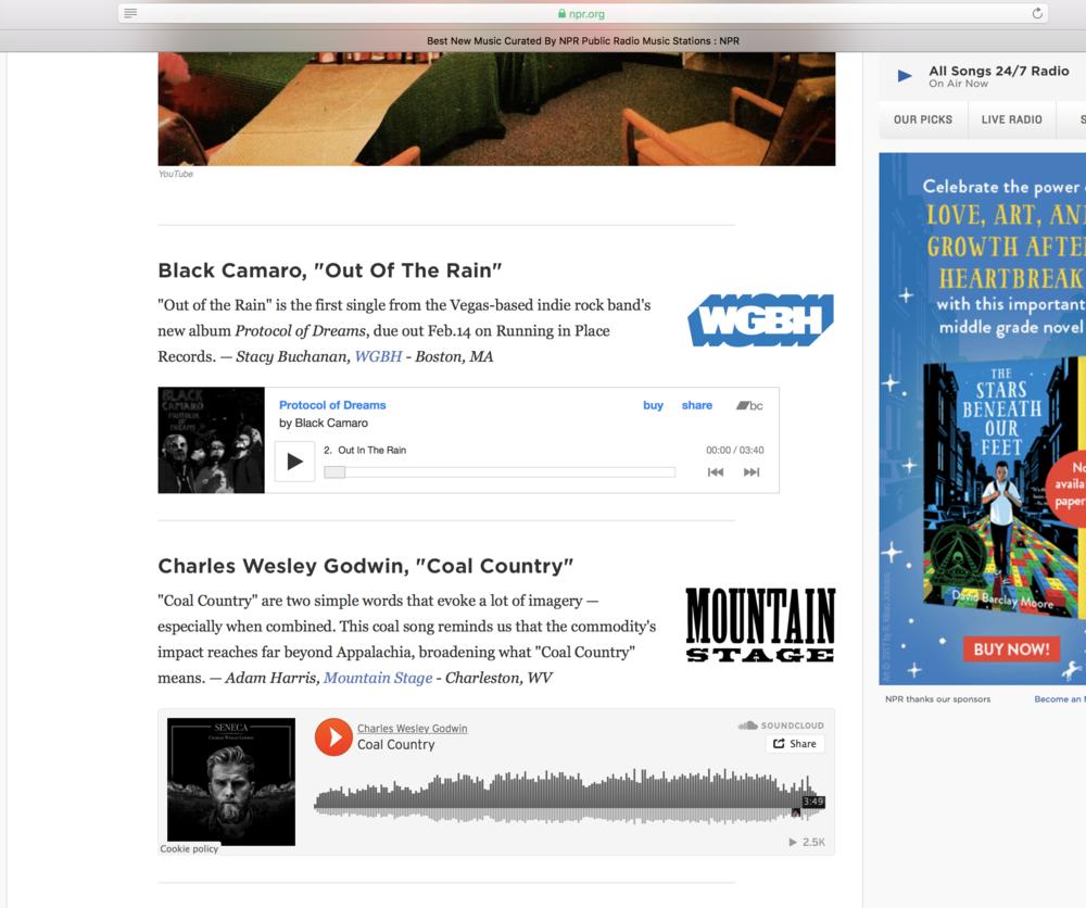 NPR Station Breaks Best New Songs
