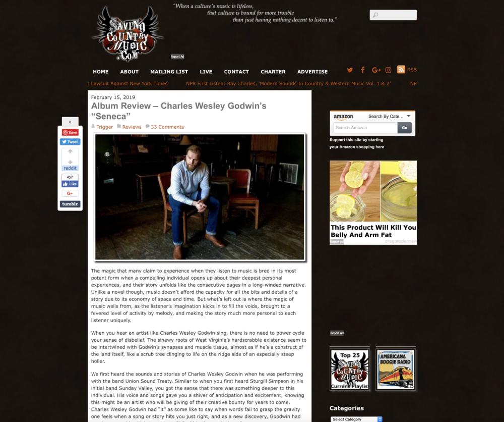 Saving Country Music Album Review