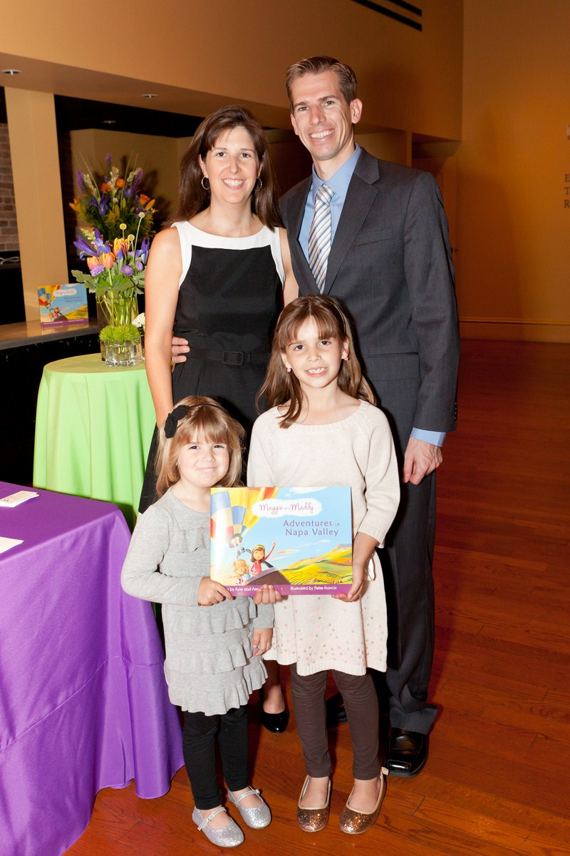 Amy and Kyle Goleno with their daughters, Meghan and Katelin, on whom the characters of Maggie and Maddy are based.
