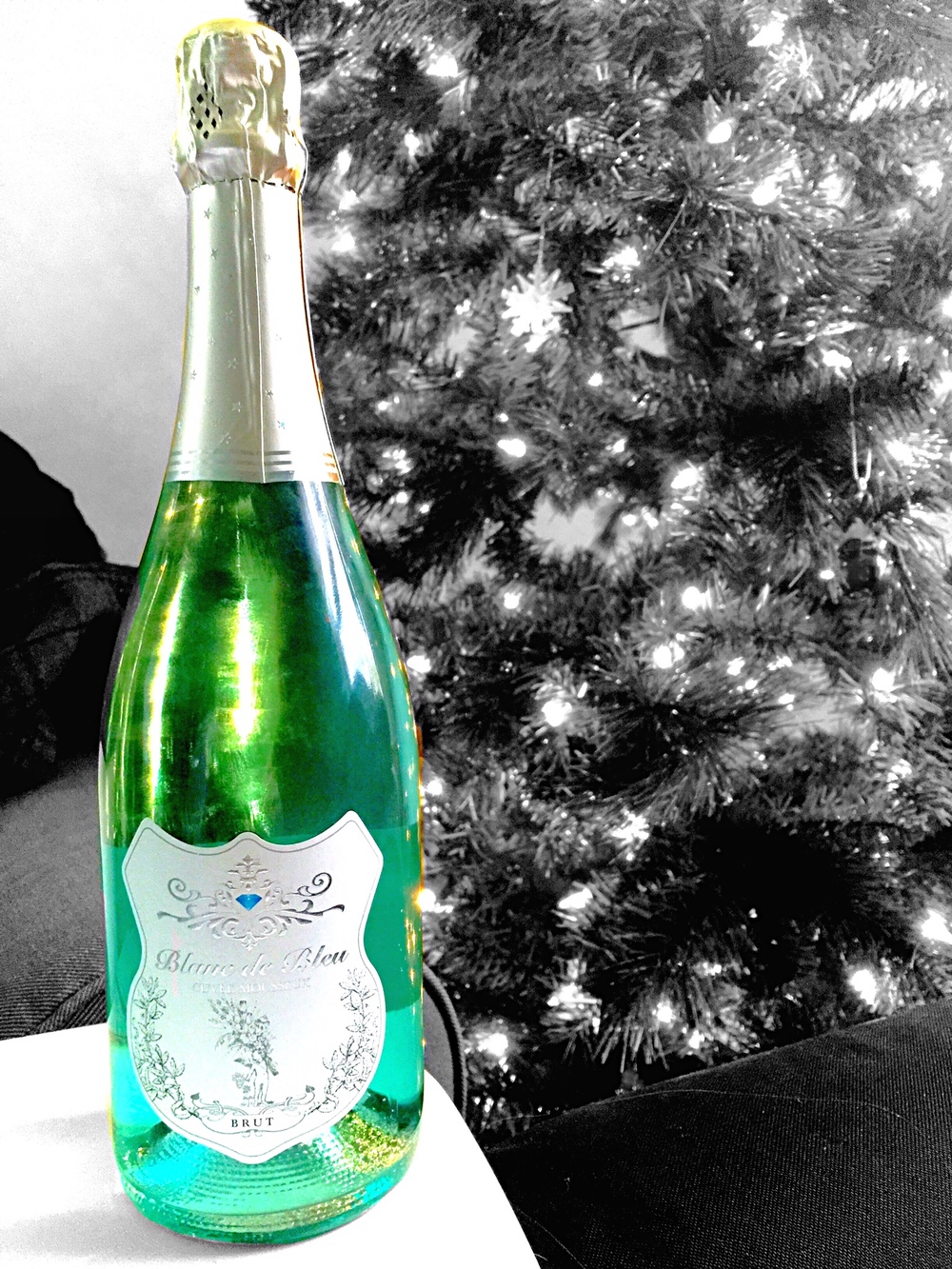 Celebrate the new year with some Blanc de bleu sparkling chardonnay