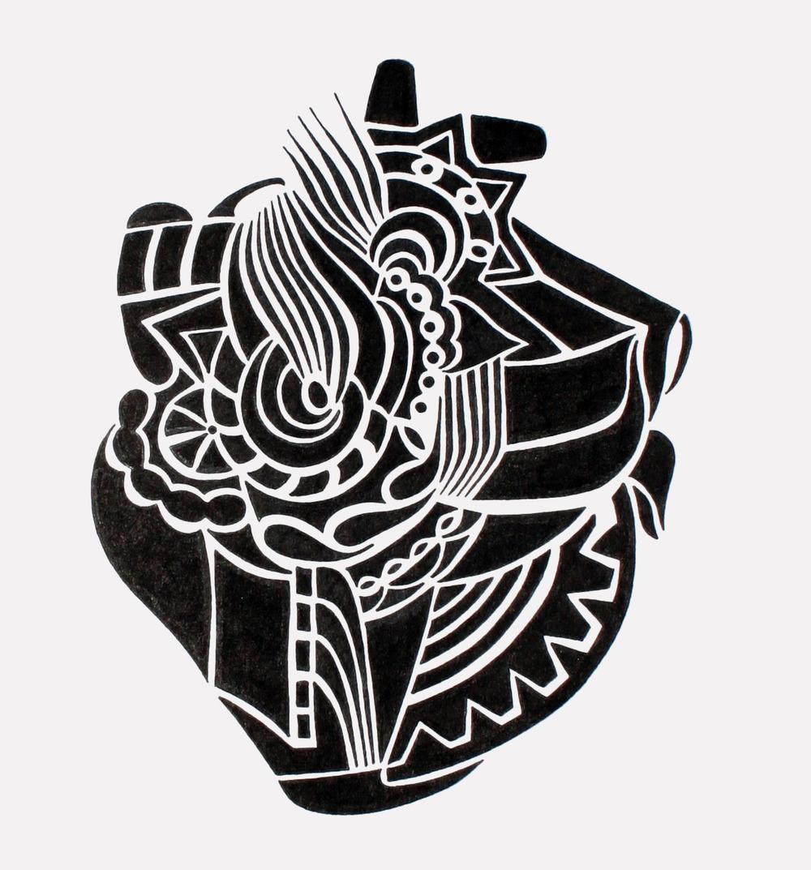 doodle #13, 7.5X9.25, 2015