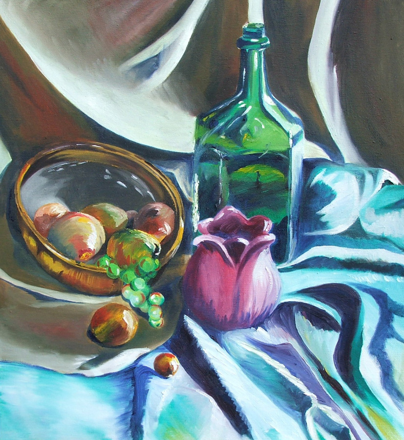 untitled (still life), oil on canvas, 22X24, 2004