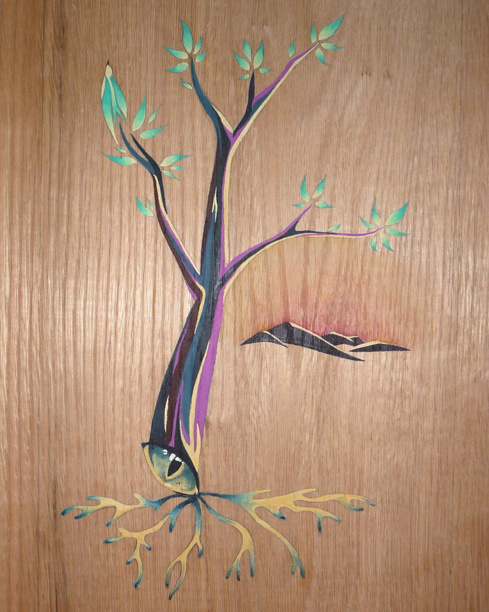 Imagination , acrylic on wood private collection