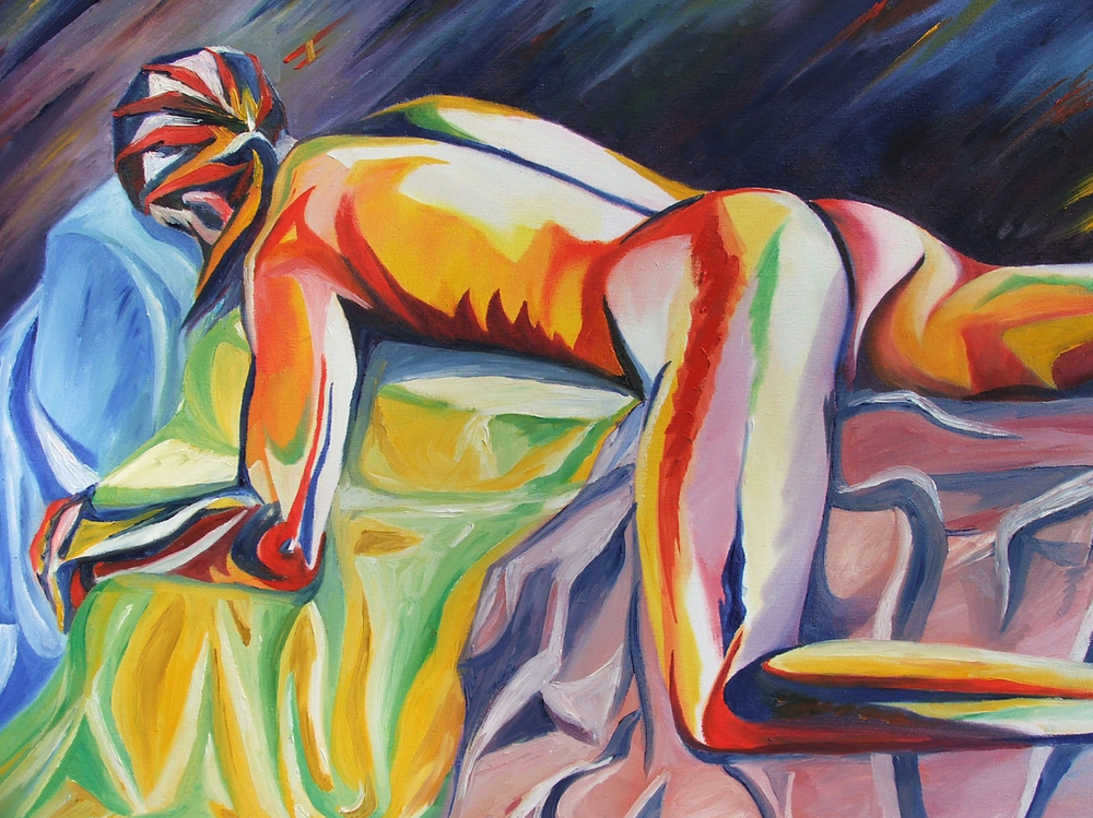 untitled (nude study), oil on canvas, 2004