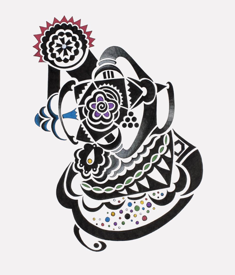 doodle #43, 10.5X12.5, 2015
