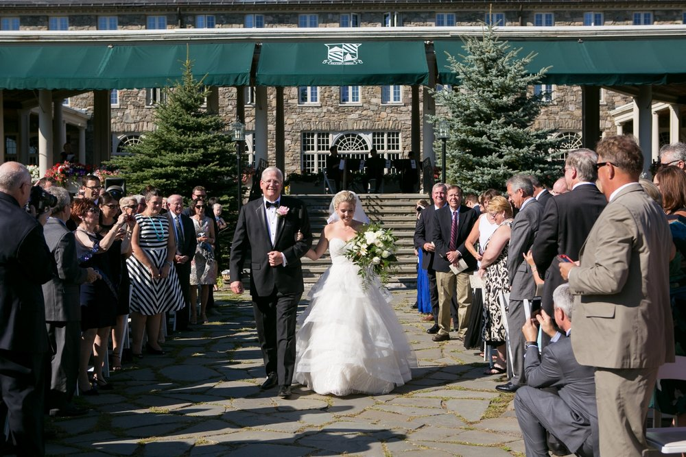 A beautiful summer wedding at Skytop Lodge in the Pocono Mountains! Can you spot our string quartet?? Image courtesy of Dove Photography