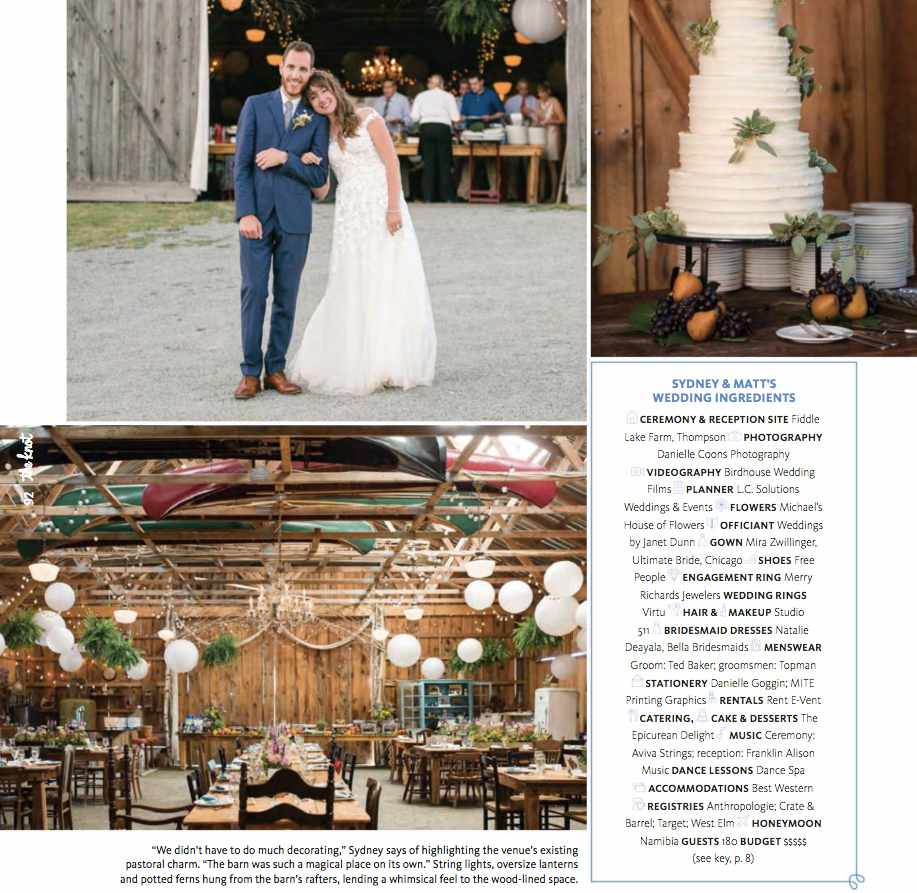 Check out the list of incredible vendors that made this unbelievable wedding at Fiddle Lake Farm possible! Links are below!