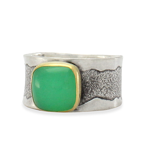 Chrysoprase Wide Ring