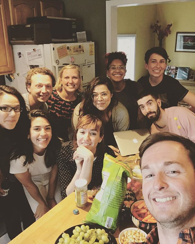 table read of WHERE THE BOYS ARE, upcoming new play by @thisisvanessaflores #tableread #newwork #snacks