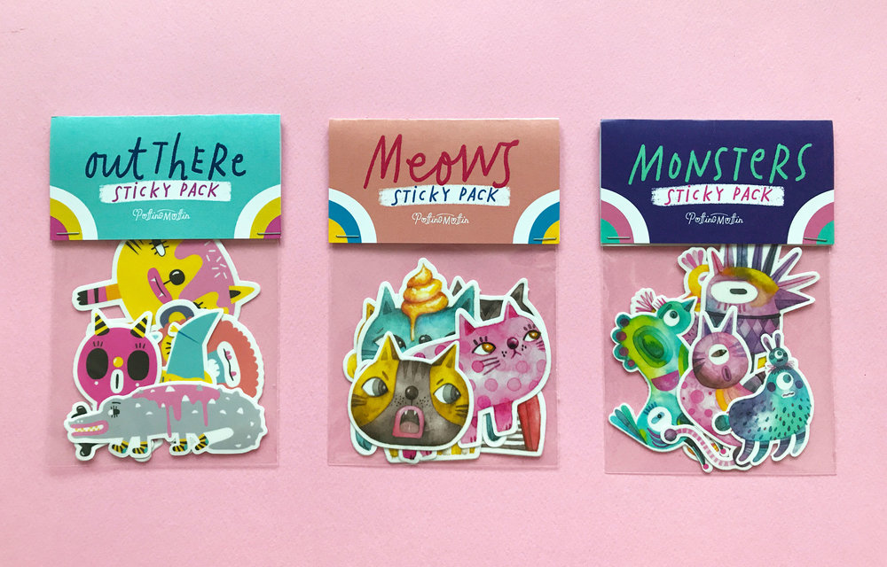 The latest collection of sticker packs by Puffingmuffin