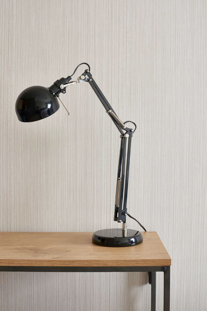Desk / Integrated desk with iconic swing-arm lamp.