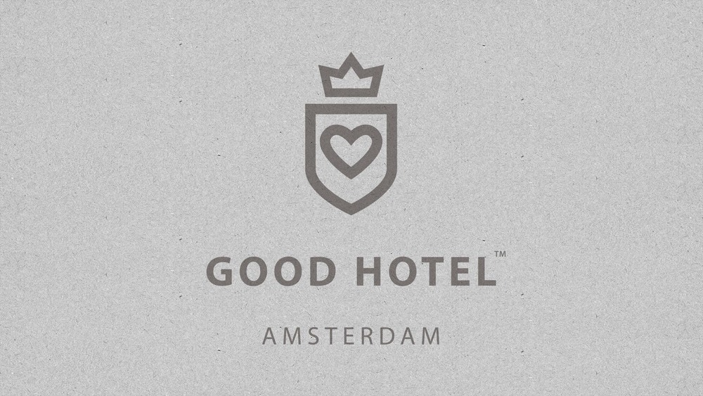 Good Hotel / Amsterdam logo with location.