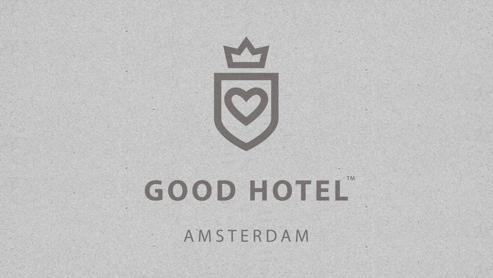 Good Hotel / Amsterdam logo with location.
