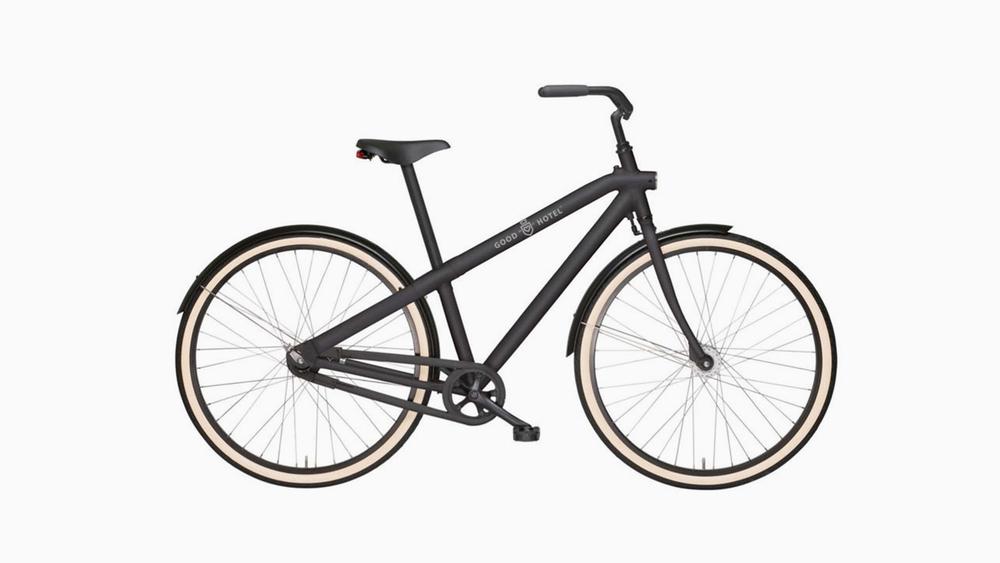 Ride / VANMOOF rental bikes with Good Hotel branding.